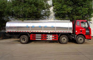 解放J6鲜奶运输车正侧图片