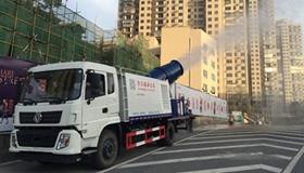 郑州扬尘综合治理方案出台 拆房必须洒水喷雾降尘车