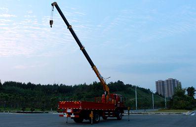 徐工6.3吨随车吊车尾向左图片