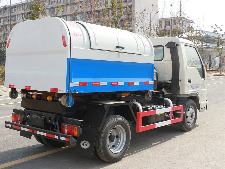 福田4方勾臂式垃圾车整车外观5