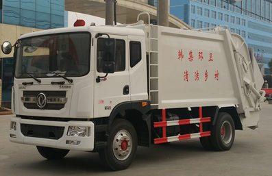 东风12方压缩式垃圾车图片(左前45度)