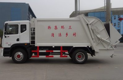 东风12方压缩式垃圾车图片(左侧)