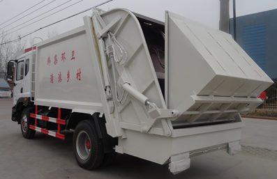 东风12方压缩式垃圾车图片(左后45度)