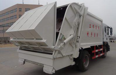 东风12方压缩式垃圾车图片(右后45度)